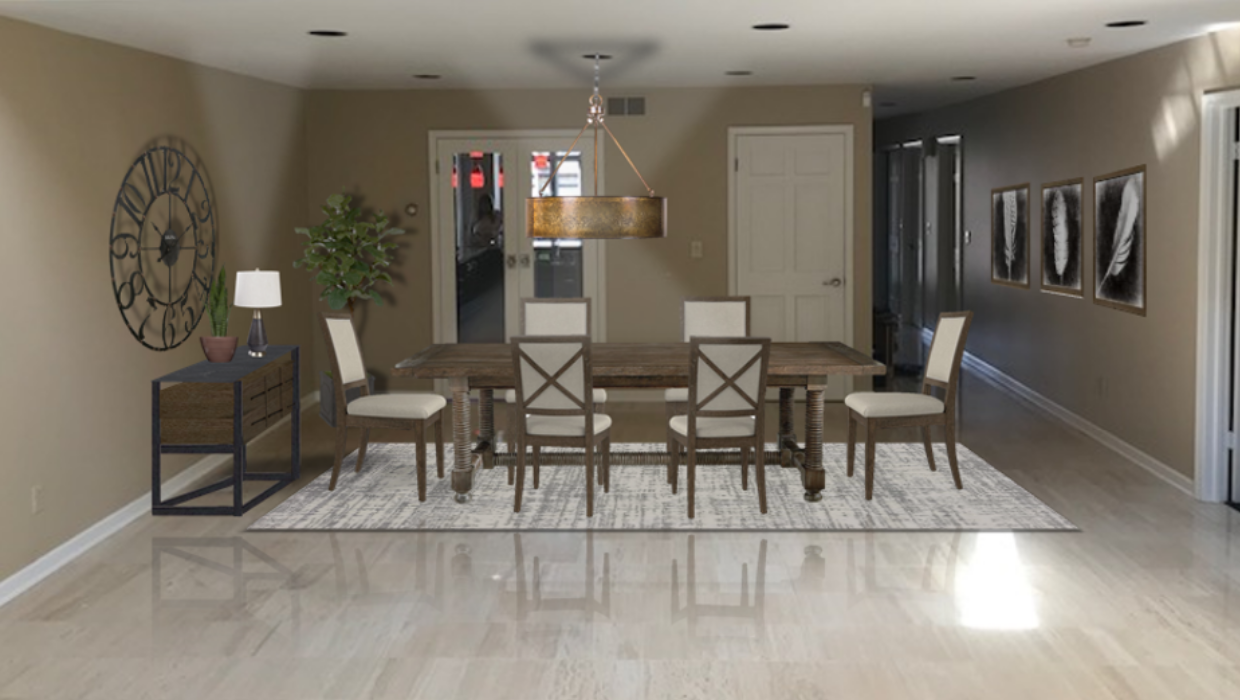 michaelhelwiginteriors.com online interior e-design rustic farmhouse dining room