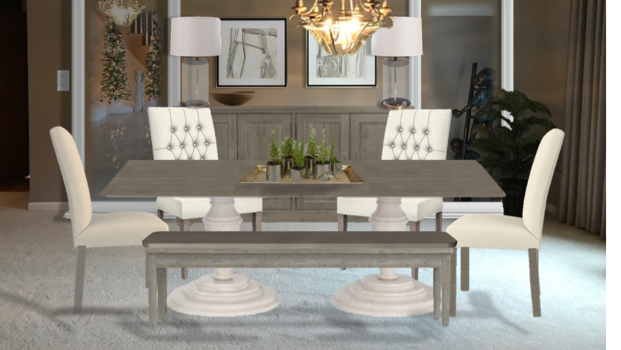 michaelhelwiginteriors.com online interior e-design modern country dining room