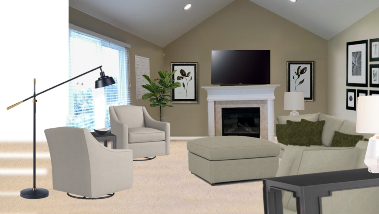 michaelhelwiginteriors.com online interior e-design neutral transitional family room