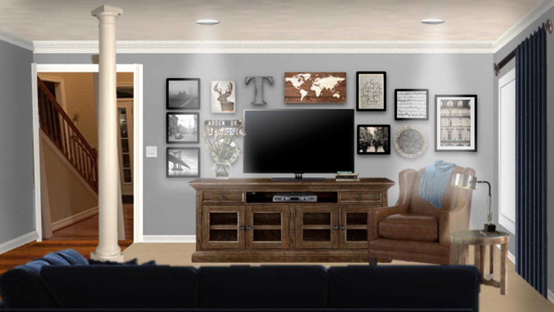 simply enhanced rustic farmhouse house gallery wall concept e-design online interior design | Michael Helwig Interiors |