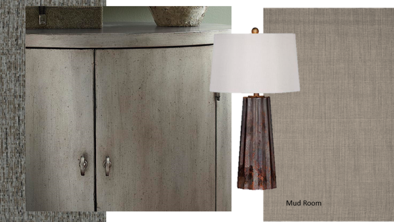 modern copper metallic and stone mood board concept e-design online interior design | Michael Helwig Interiors |