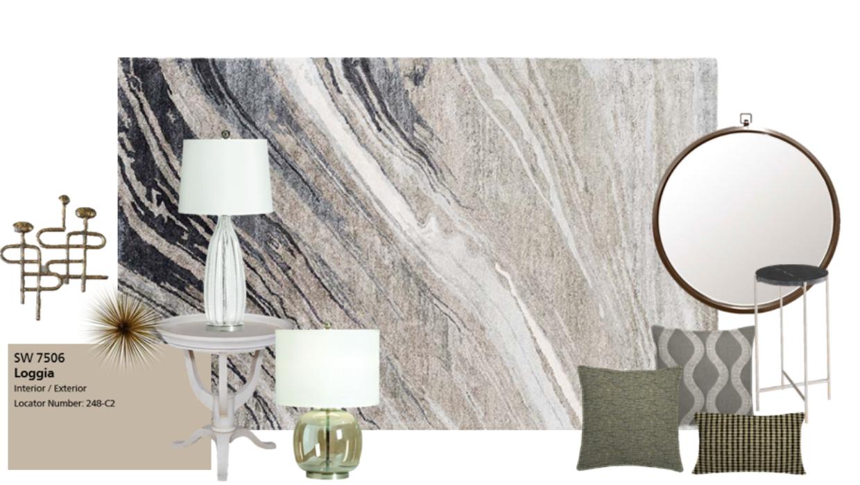 glam farmhouse with modern accents e-design online interior design | Michael Helwig Interiors |