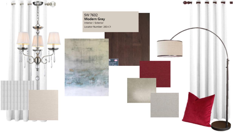 traditional modern dining room e-design online interior design | Michael Helwig Interiors  |