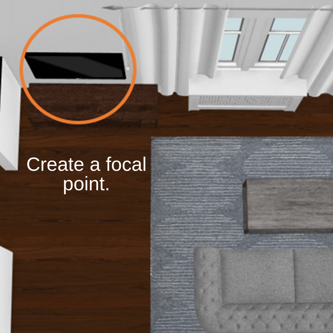 Small Narrow Living Room