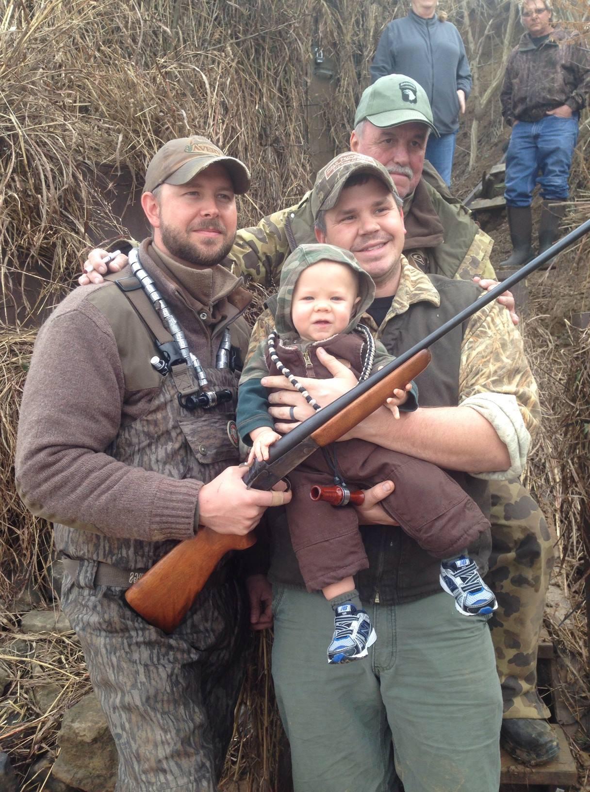 1st birthday, 1st trip to the blind, 1st shot gun, 1st duck call