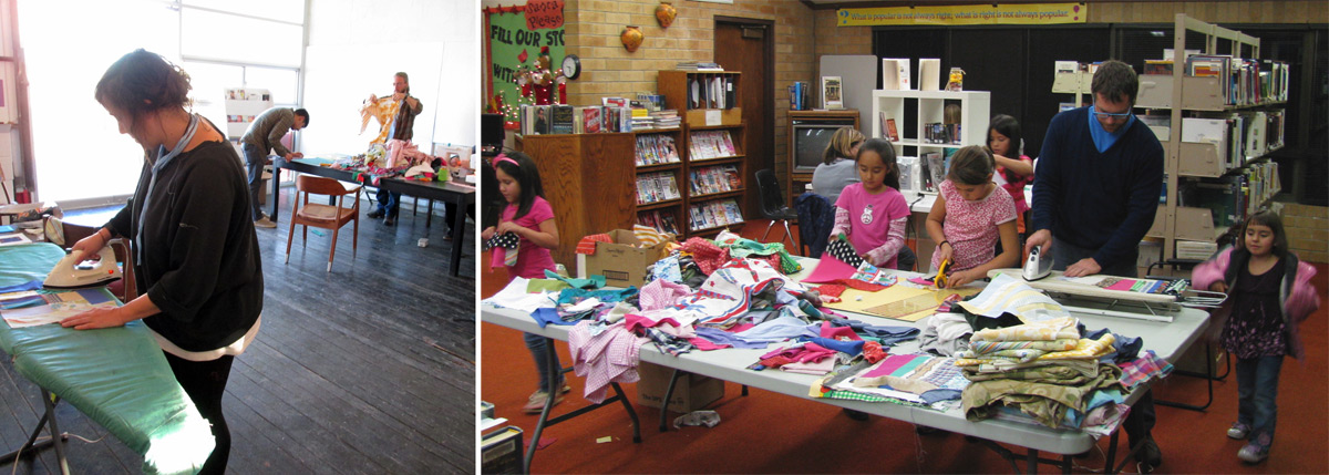 Epicenter and the Green River Boys & Girls Club patchwork workshops