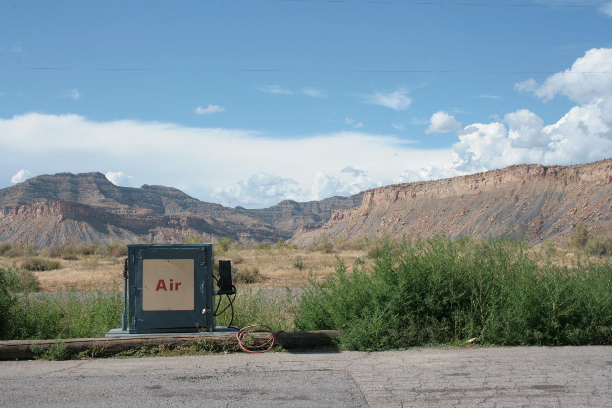 Air pump at Thompson Springs, Utah, 2011
