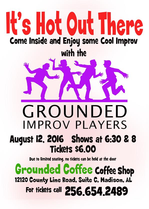 Grounded Improv Poster for August 12th show