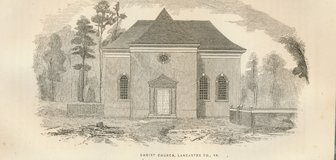 This circa 1857 drawing of Christ Church is the earliest known image of the structure. (Photo from the official Historic Christ Church website.