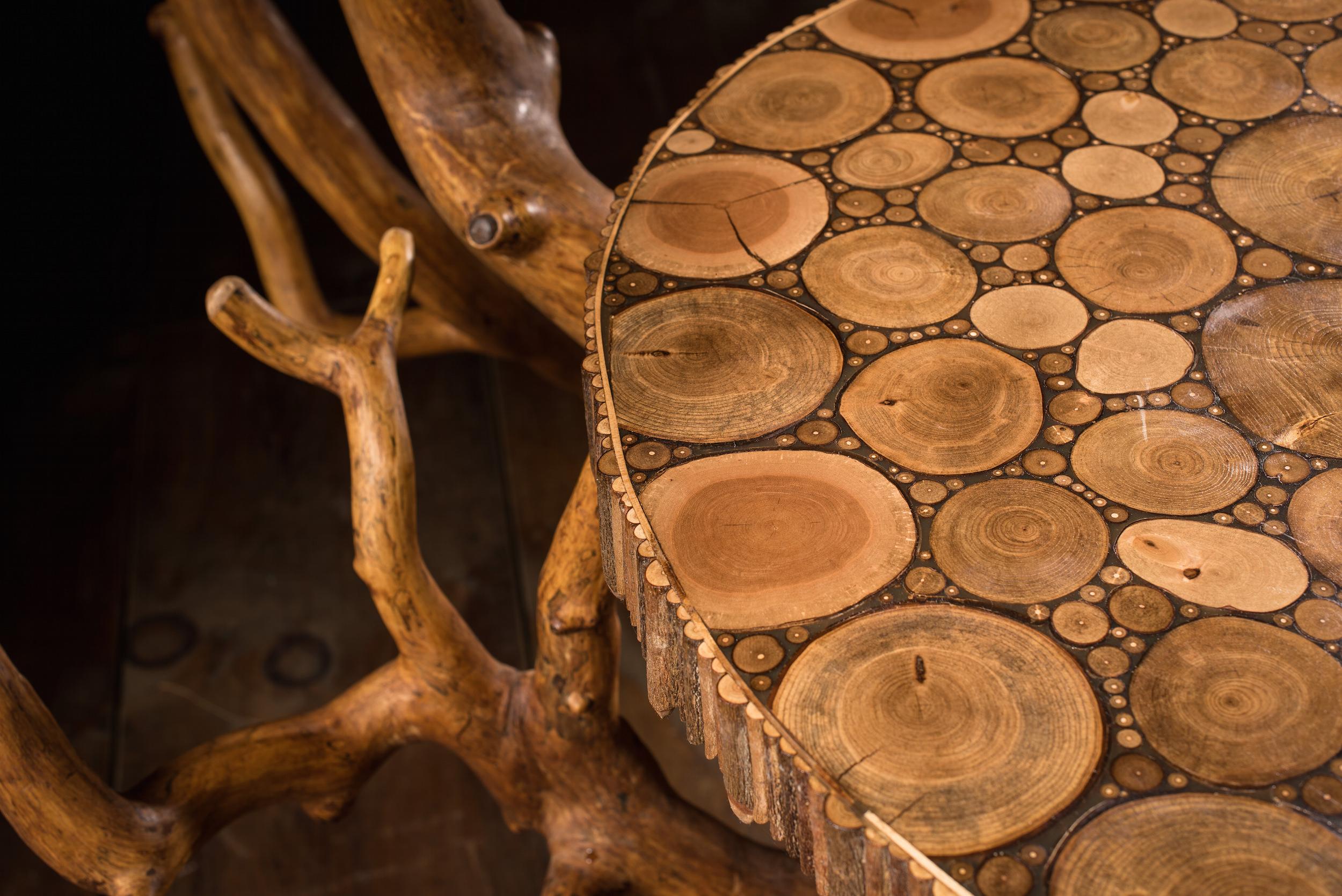 Dramatic Foyer or Bar Table