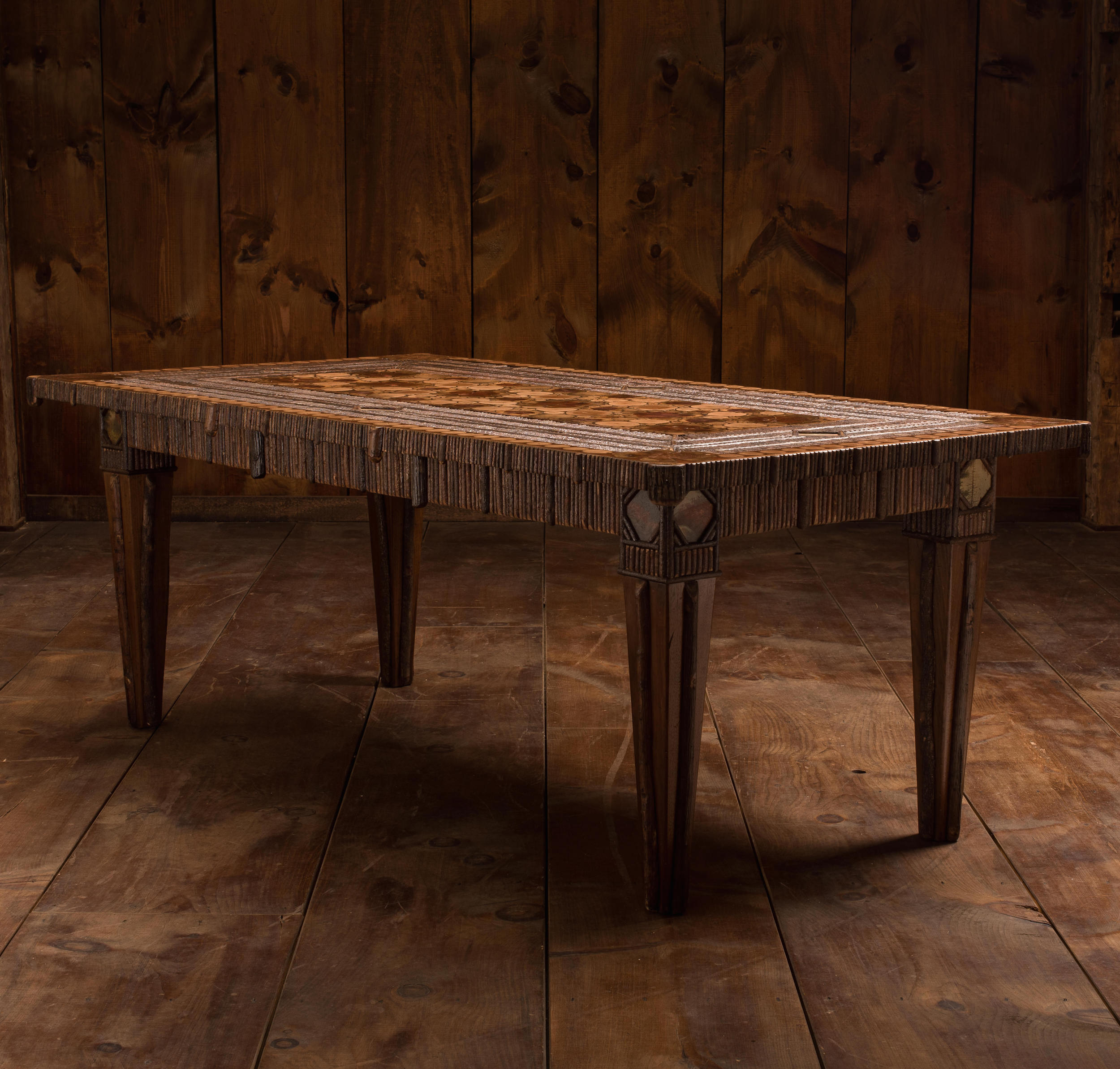 Sliced Twig 8-Top Dining Room Table