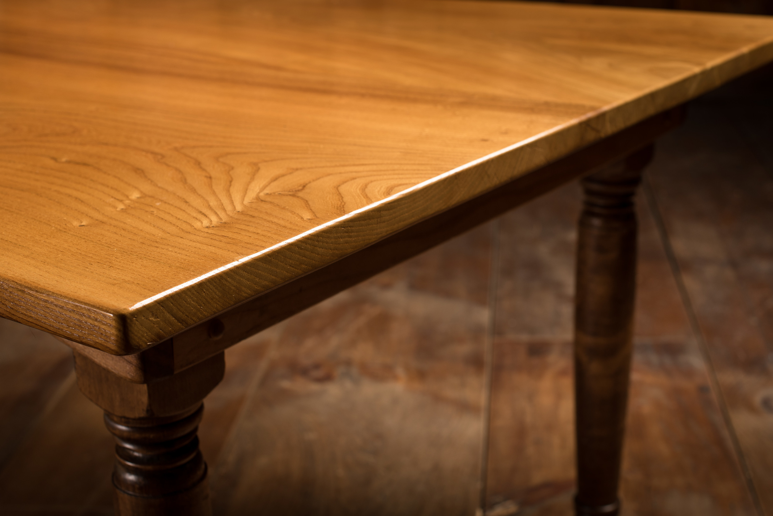 English Elm Dining Room Table