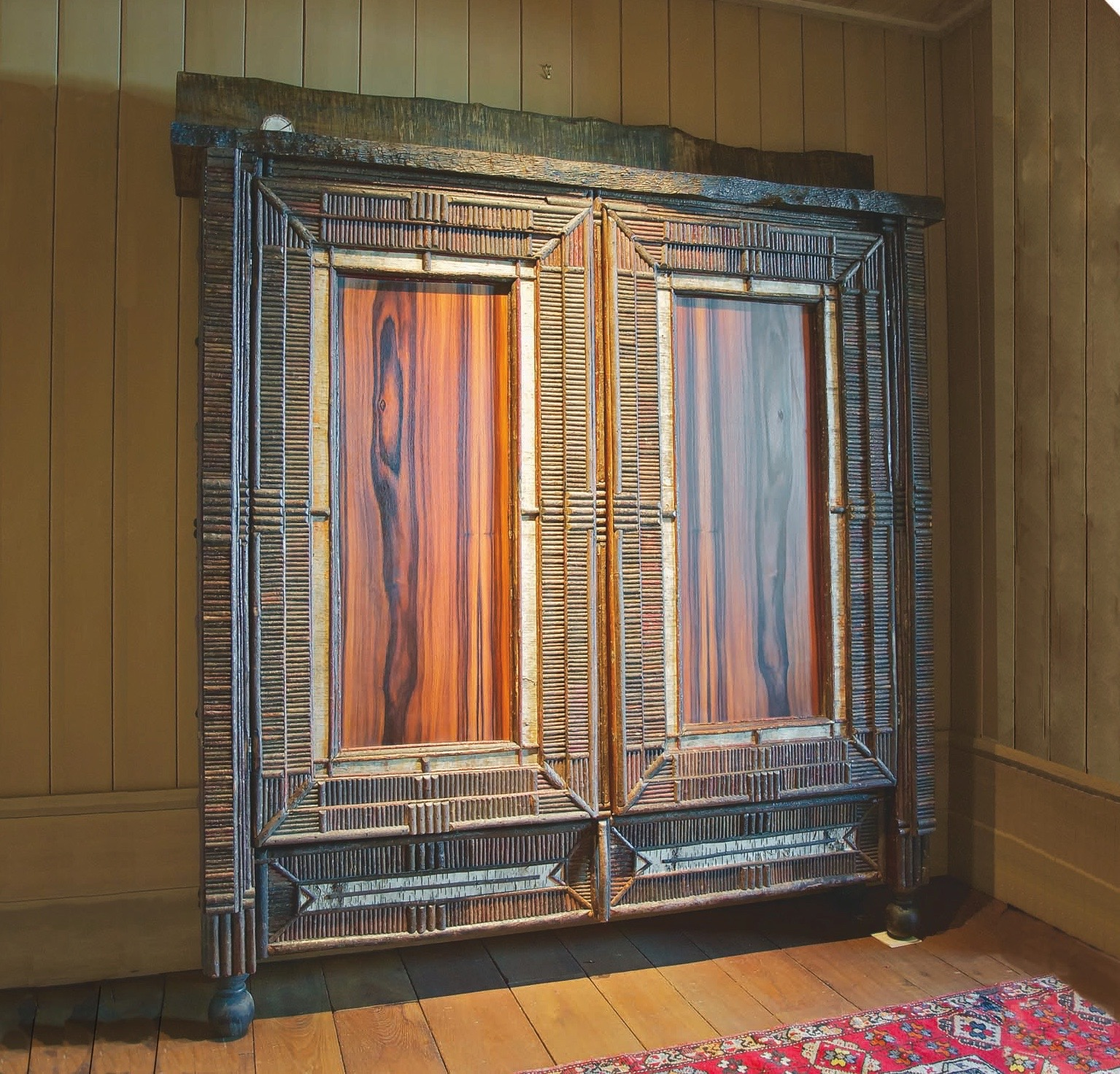 Cherry and Rosewood Cabinet