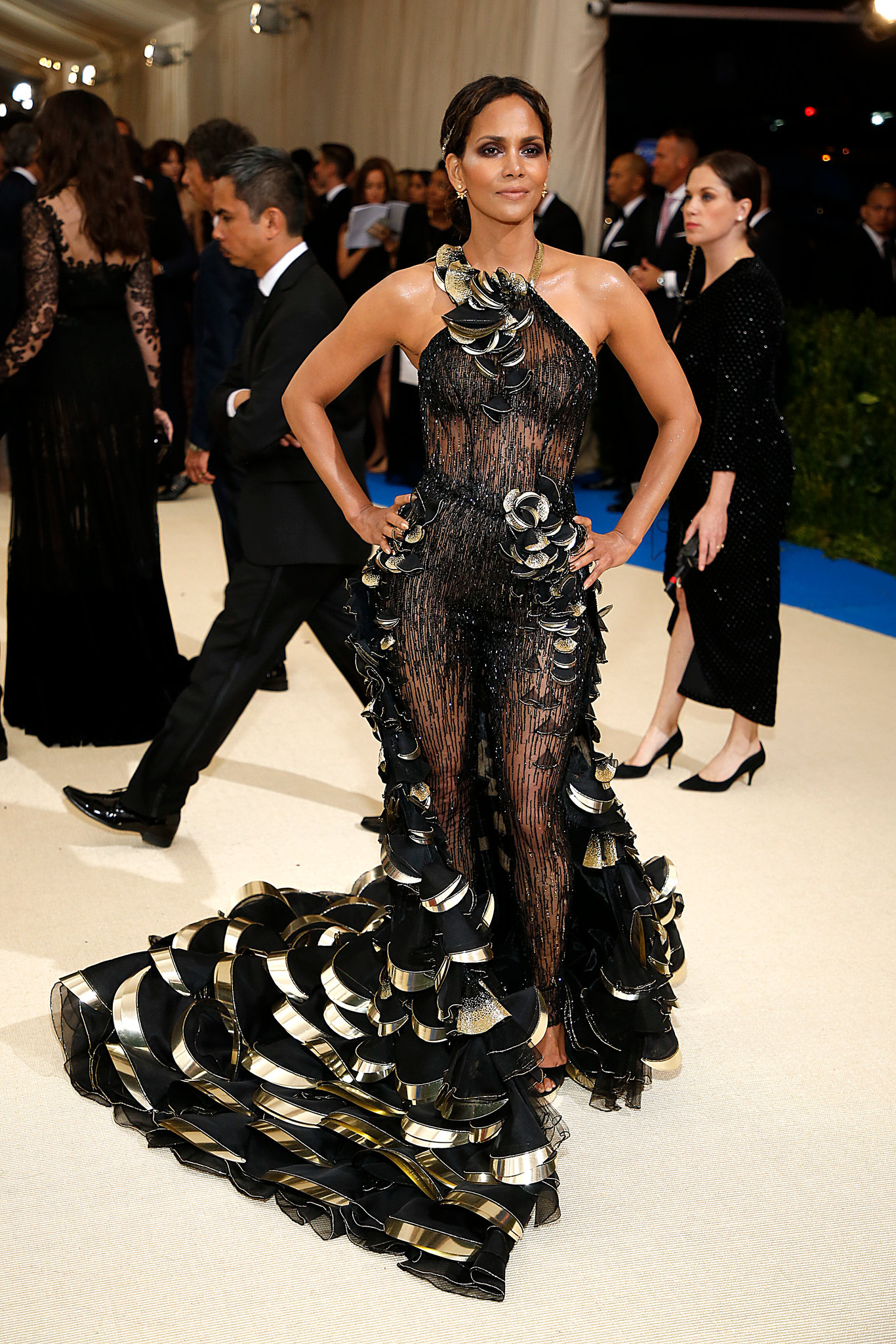 Halle Berry in Versace Dress