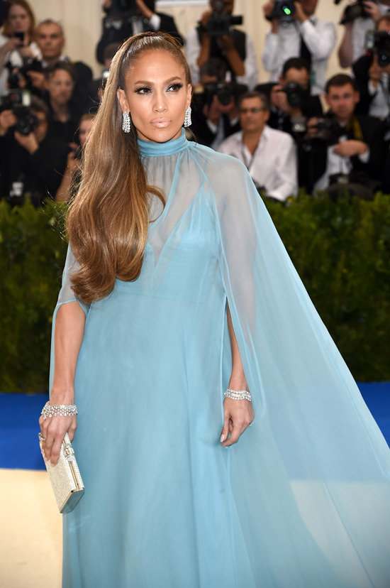 Jennifer Lopez in Valentino Haute Couture Dress and Harry Winston Jewelry