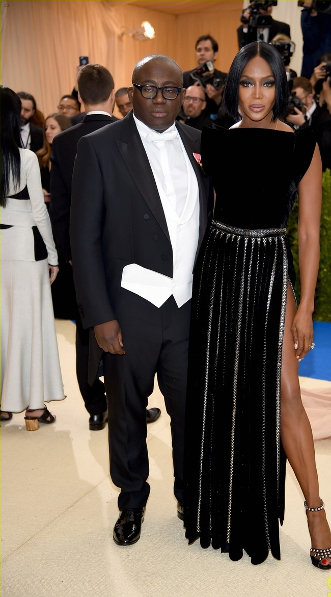 Edward Enninful and Naomi Campbell in Azzedine Alaïa