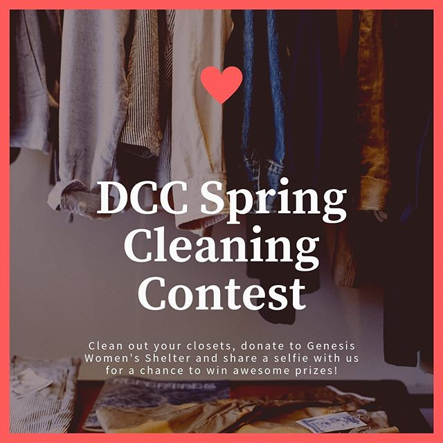 ‼️GIVEAWAY ALERT‼️ Y'all, it might feel like summer but we've still got 3️⃣ more weeks of spring, so let's get to *finally* Marie Kondo'ing your life and clean out those closets 👗 We're calling on YOU to round up a bag or two of gently-used clothing and/or home goods, take it all to @genesiswomensshelter's Benefit Thrift Store, snag a selfie with your donations, tag us and be entered to win 💵gift cards💵 to some of your fave retailers!