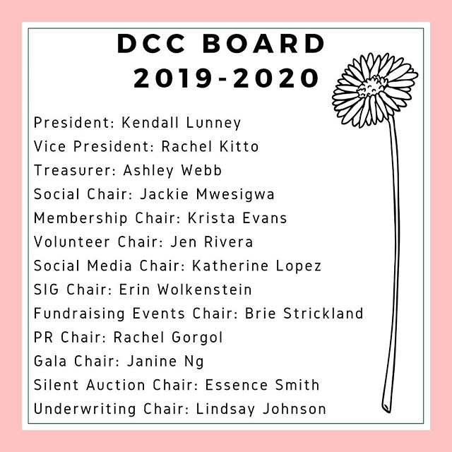 CONGRATULATIONS TO OUR NEW BOARD 🌸 We are so excited for the next year✨