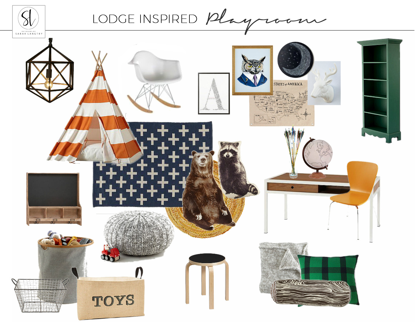 Lodge Inspired Play Room