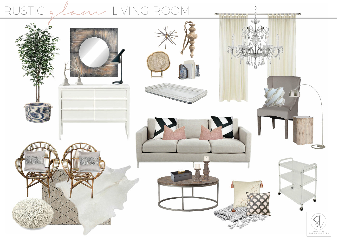 Rustic Glam Living Room