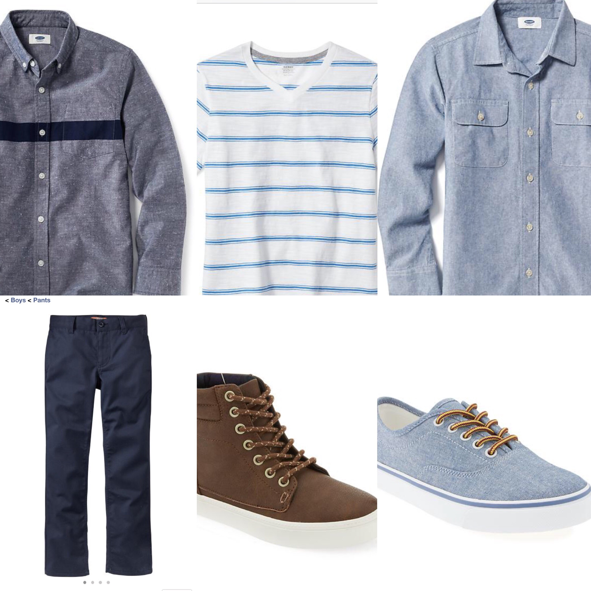 Boy's Clothing Pantone Blue