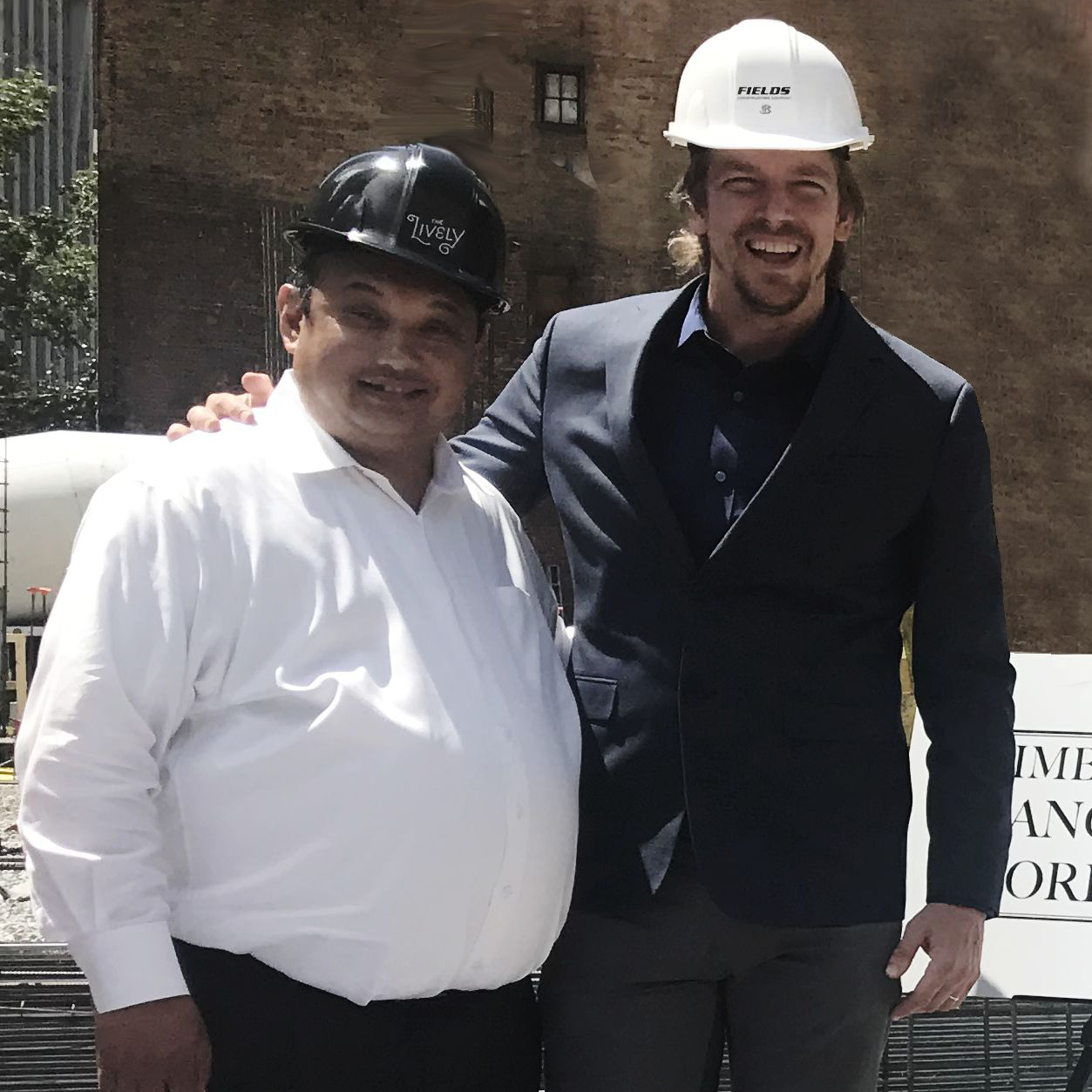 Artistic Director Samuel Pott and Rolando Lavarro, Jersey City Council President, at the groundbreaking.