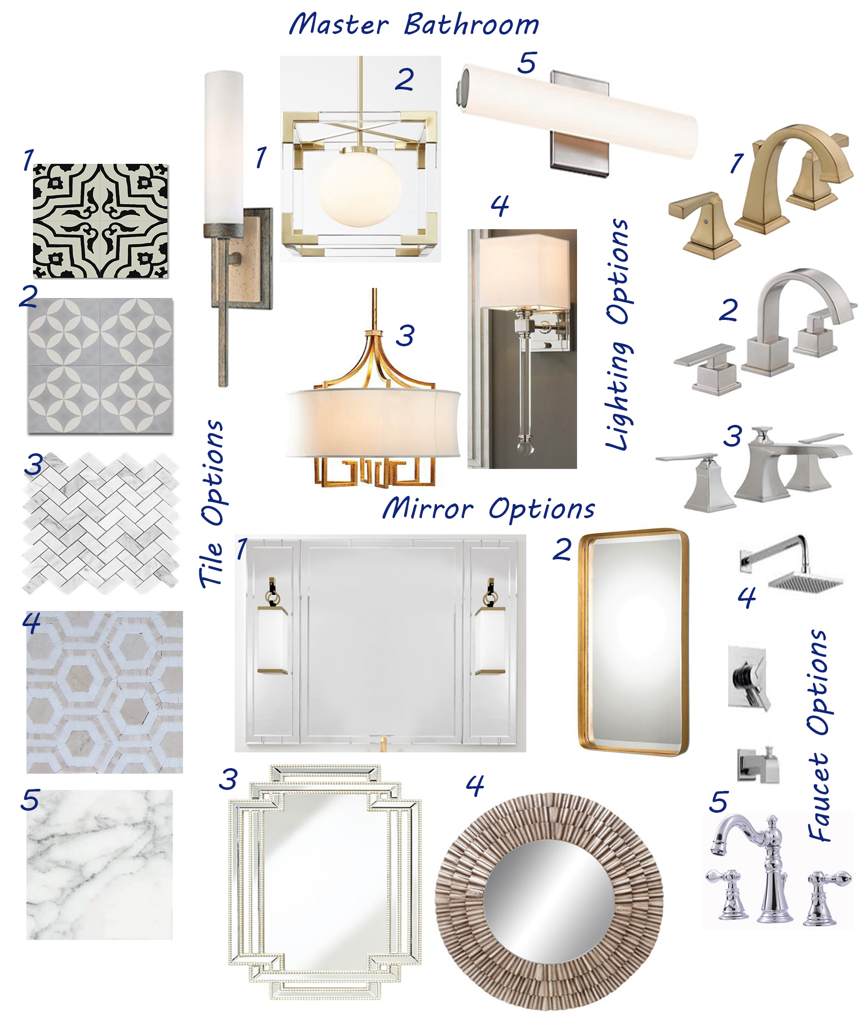 Tiles:  1 // 2 // 3 //4// 5 //  Mirrors:  1 // 2 // 3 // 4 //  Lighting:  1 // 2 // 3 // 4 // 5 //  Faucets:  1 // 2 //3// 4 // 5 //