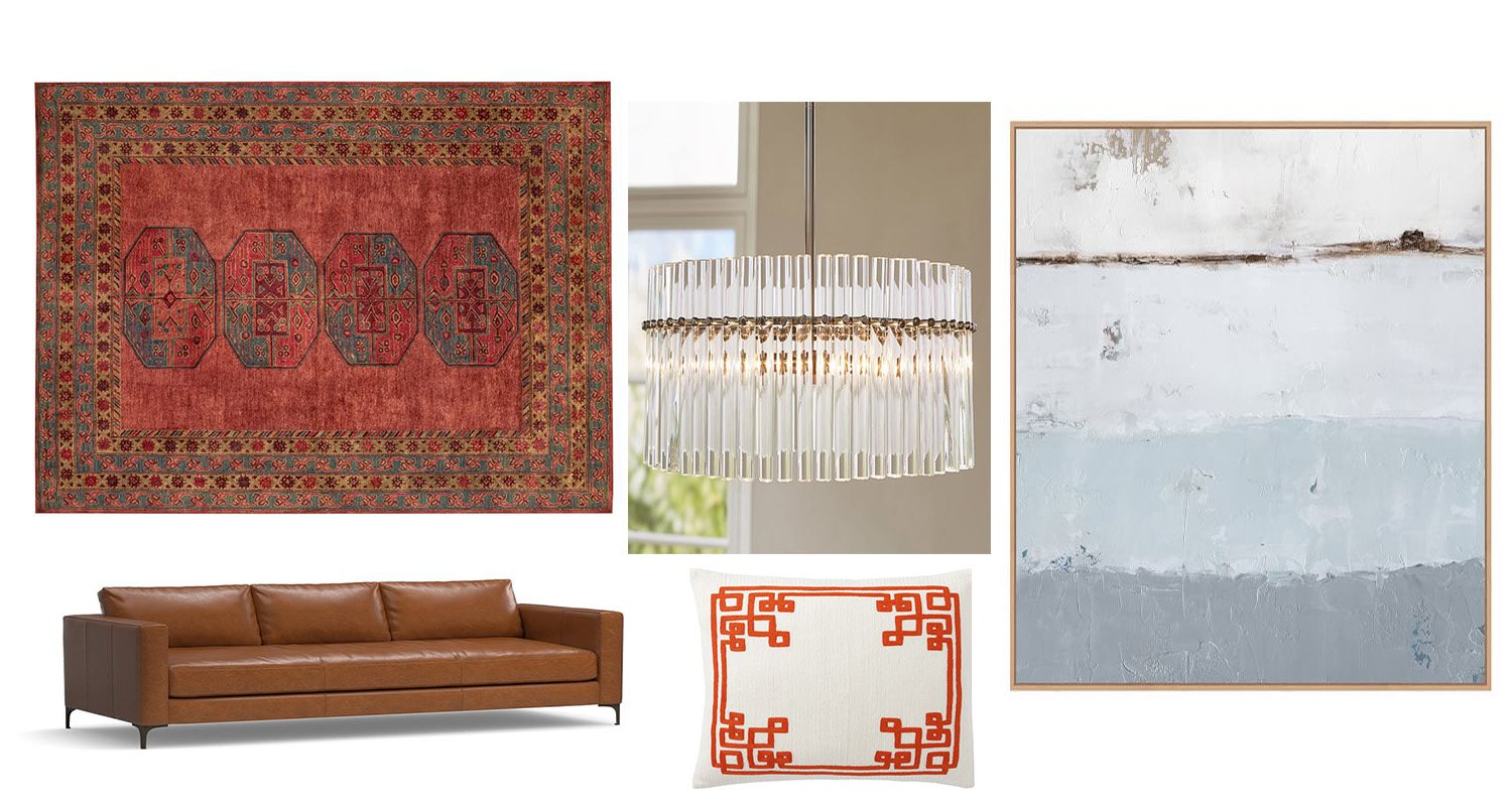 Rug // Chandelier // Art // Couch // Pillow   Sister Company Sales:   Williams-Sonoma 20% off + Free Shipping    West Elm: Buy More, Save More