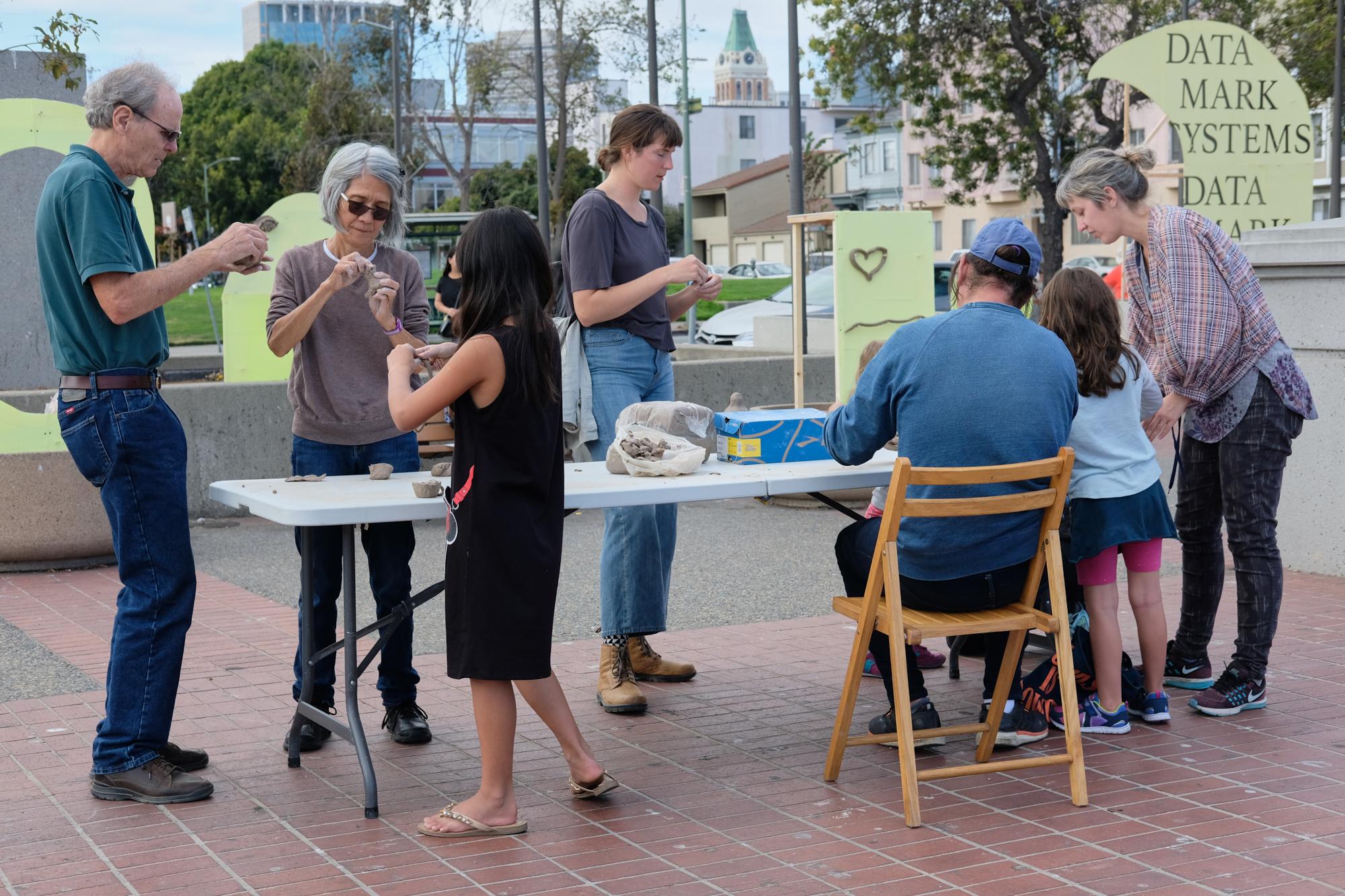 Channeling Event, Lake Merritt Bart Station, Oakland