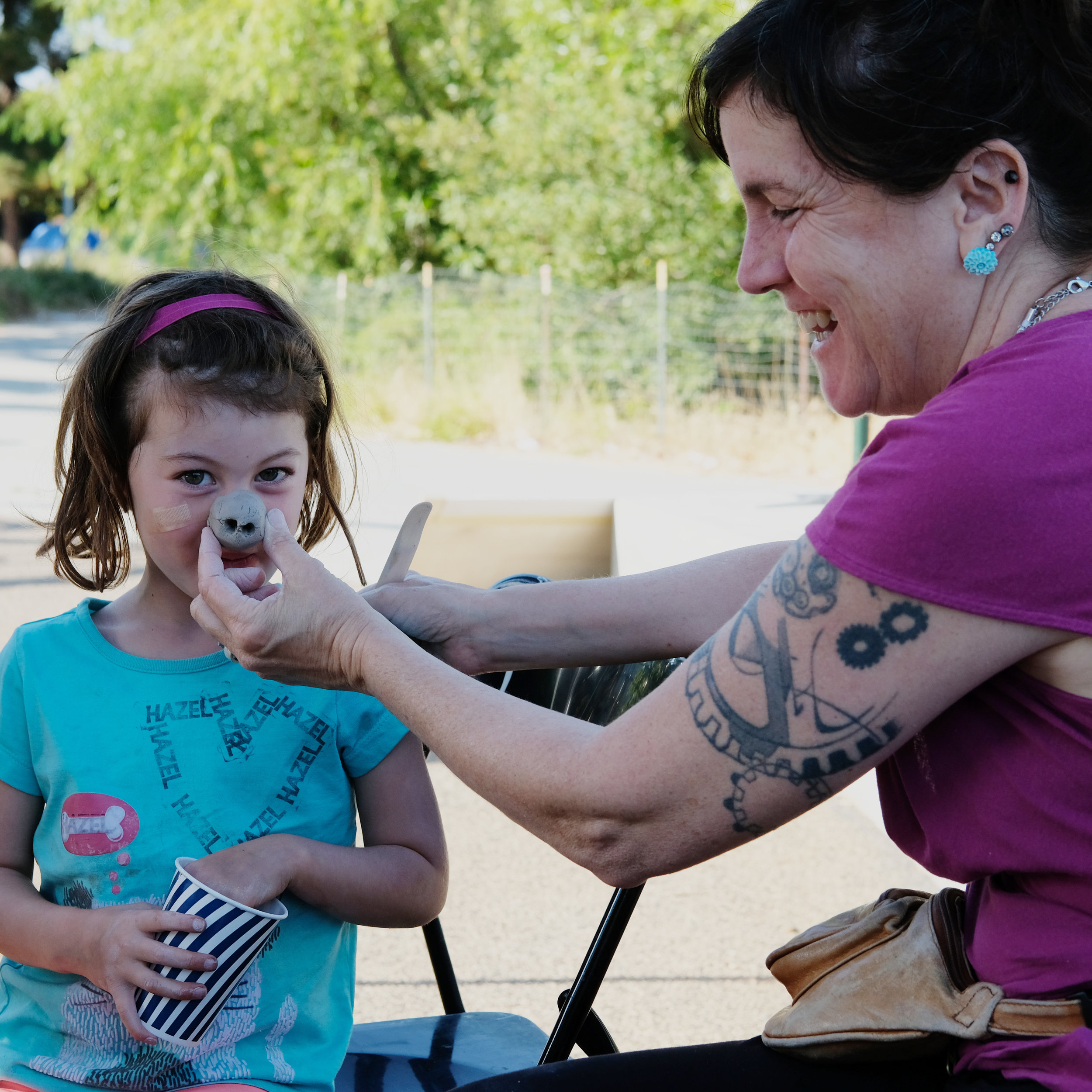 Cups and Clay workshop, led by Emma Spertus at Peralta Park, Oakland