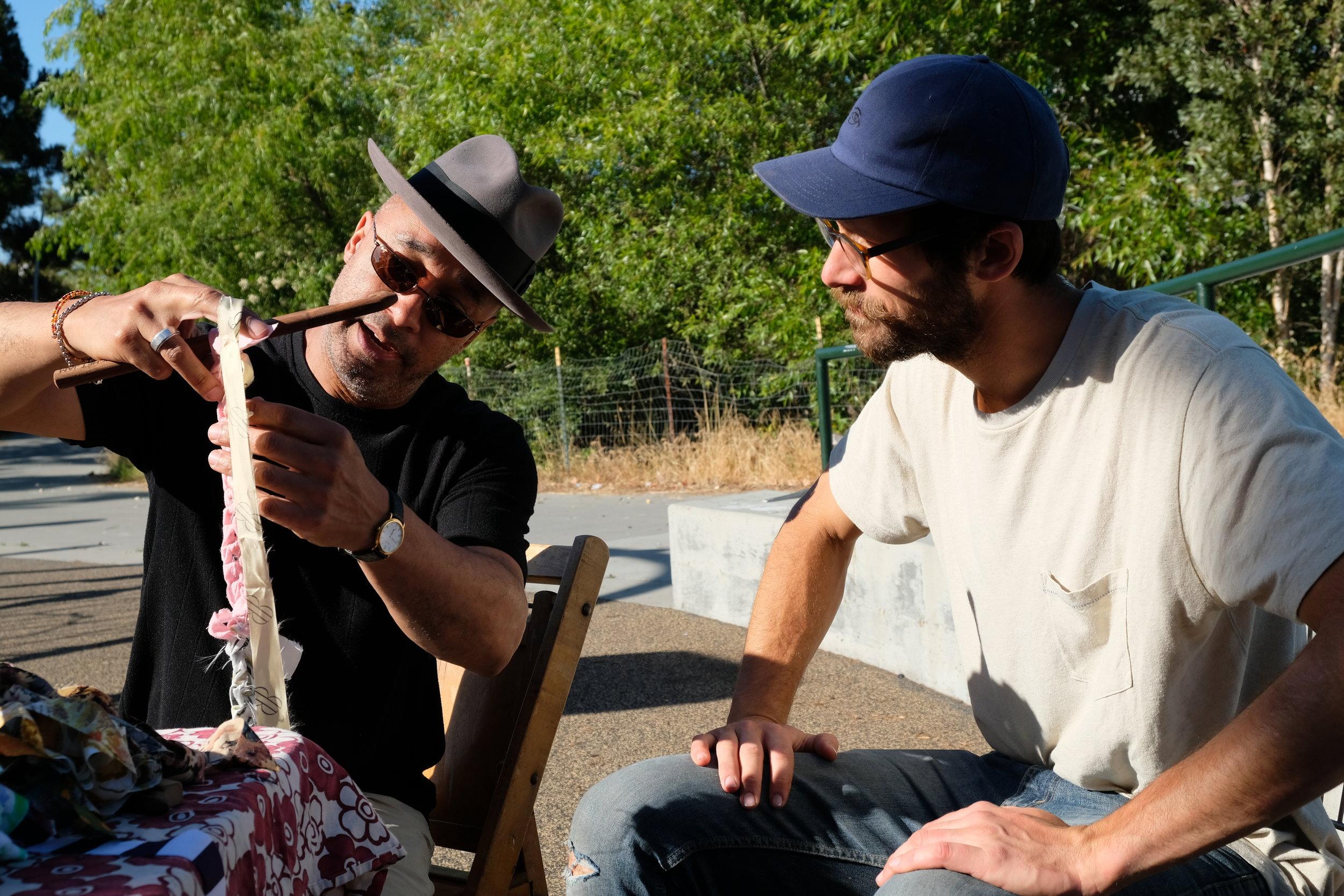 Crochet Jam led by Ramekon O'Arwisters at Peralta Park, Oakland