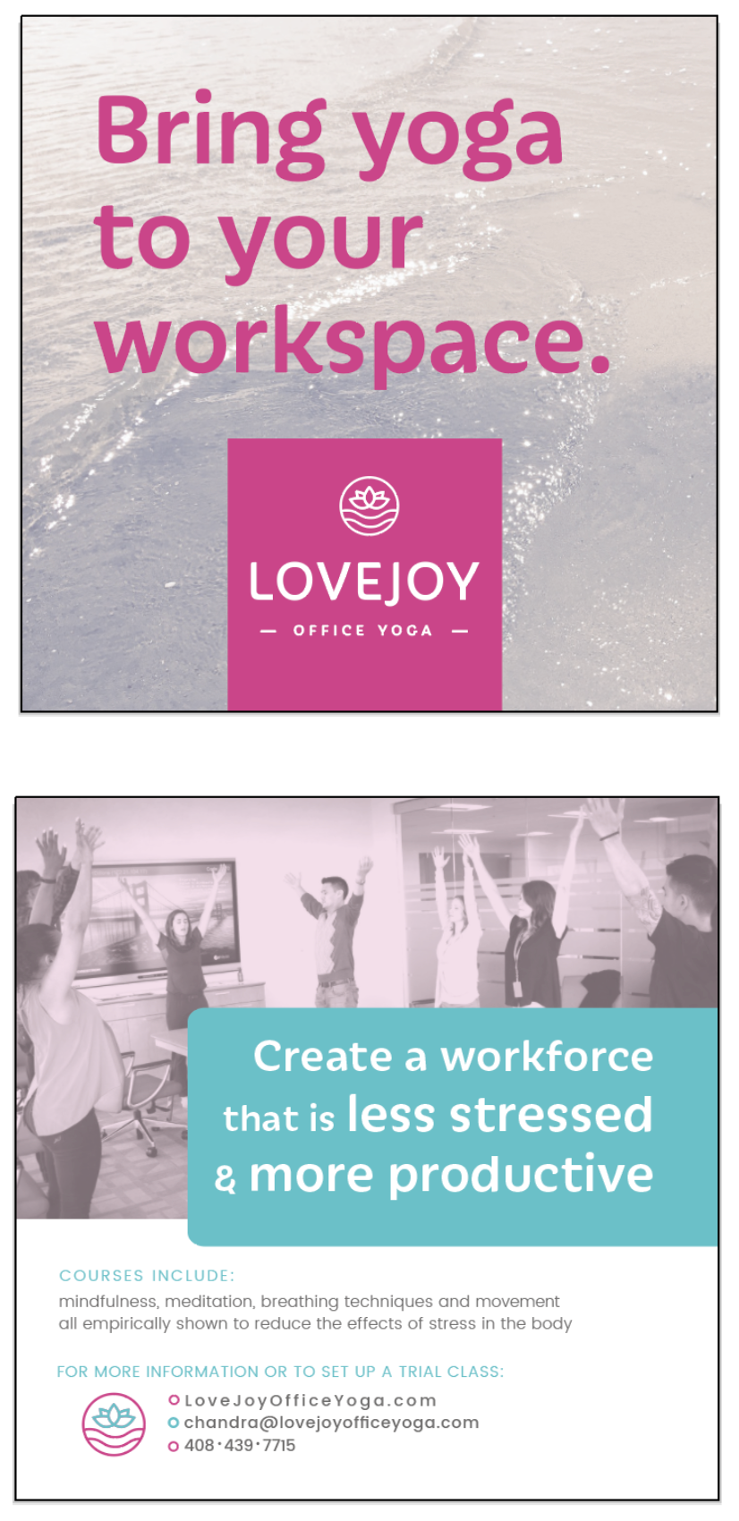 - client: Lovejoy Office Yoga, Sacramentopromotional flyer