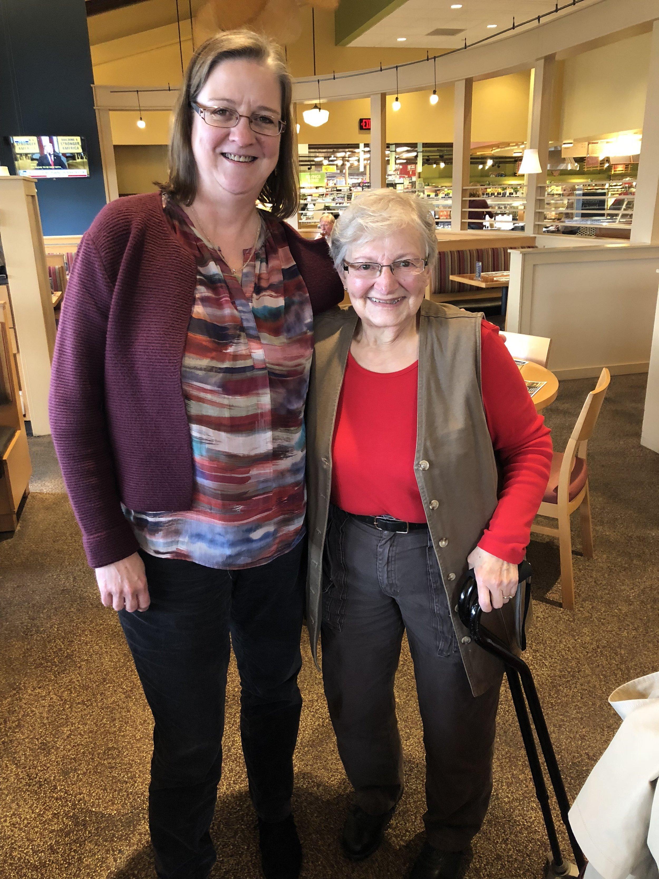 Volunteer Coordinator, Margaret Mullen pictured with Mary Kathryn, hospice volunteer.