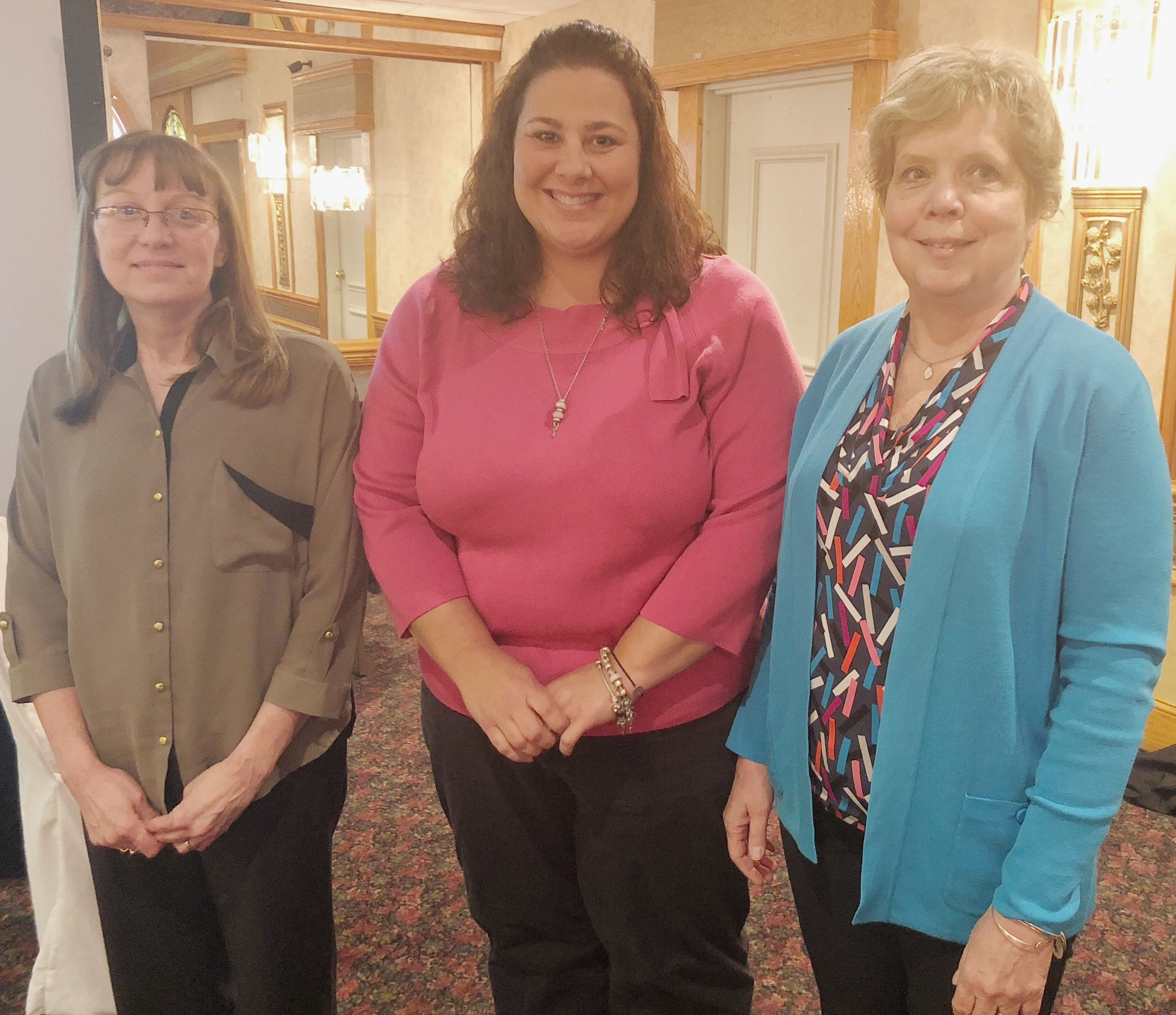 Pictured L-R:  Dee Pitts, Tina Engelhart and Pat Galioto