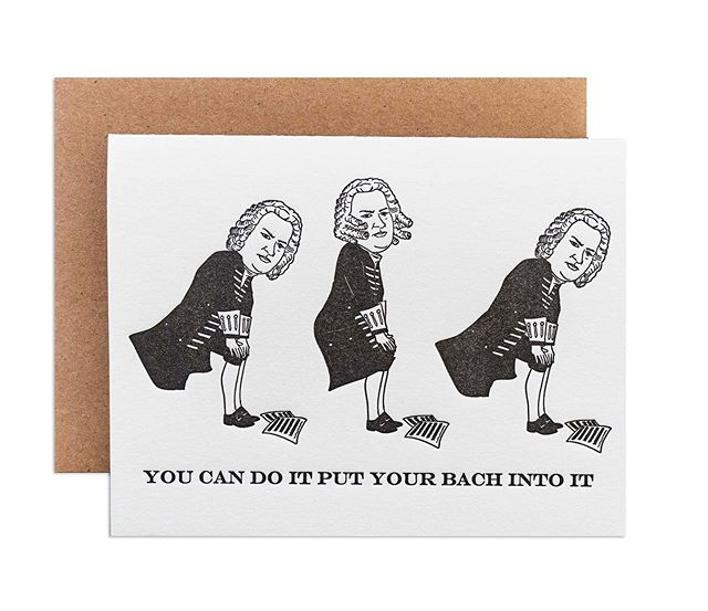 Halfway through the week people...we got this 🙌🏼🖤 new cards are makin' their rounds! #youcandoitputyourbachintoit #babygotbach #bachtothegrind #twerkingbach #classicalmusic #seewhatididthere