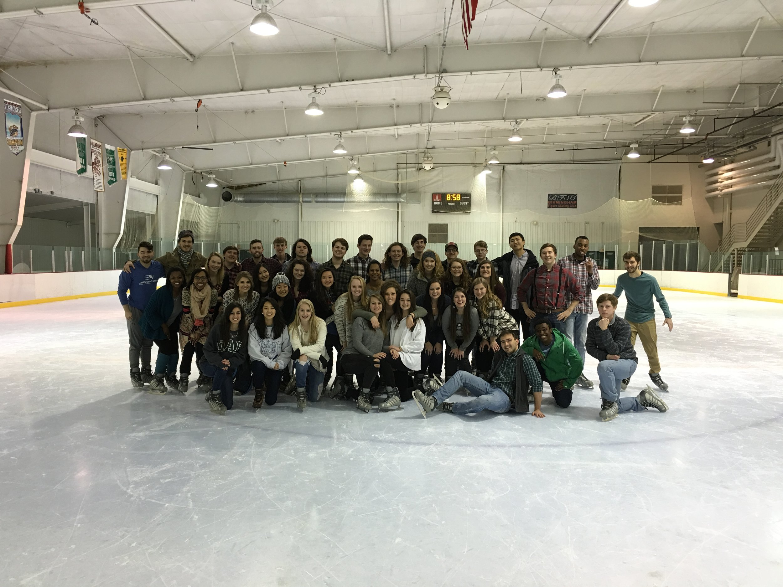 Ice Skating Mixer with Alpha Xi Delta, Spring 2016