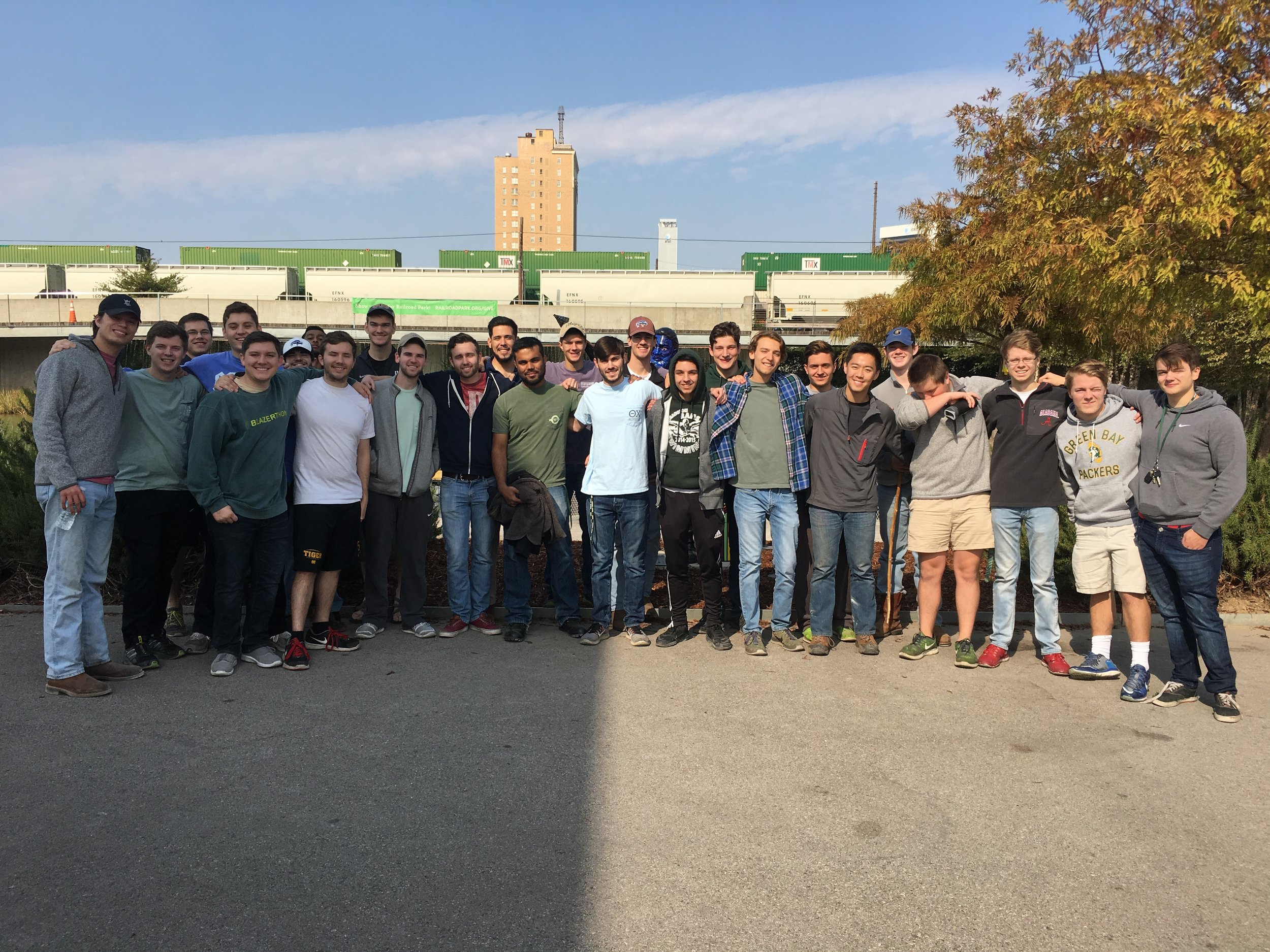 Railroad Park Cleanup Day, Fall 2016