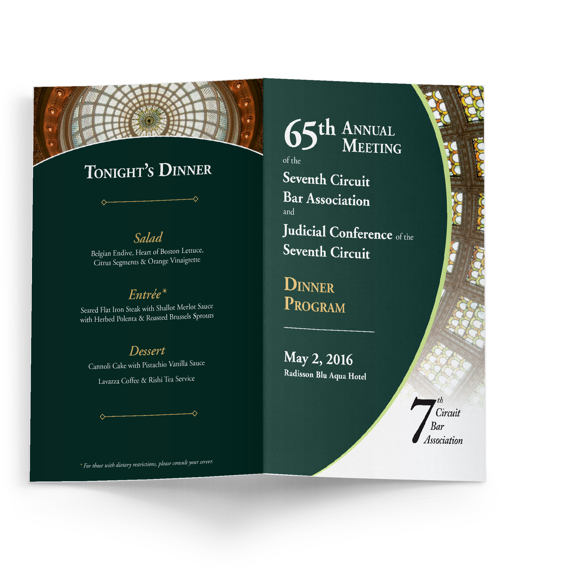 7th Circuit Dinner Program outside cover