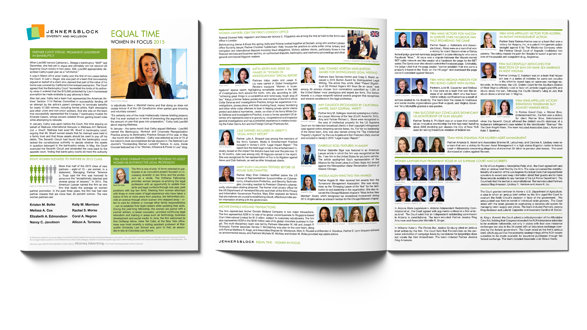"Jenner & Block LLP ""Equal Time"" Women in Focus Newsletter, 2015"