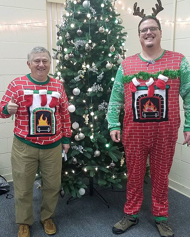 Awesome tacky sweaters! @mikelynnshots won the contest at our apartment Christmas party 🎉 . .  #thrivechurchva #loveGod #lovepeople #passiton #Jesus #blessedbygod #god #love #angel #buisness #motivated #warriorforGod #helpsomeouttodayrva #faith #soberissexy #soberwarrior4god #neverquitneversurrender #NeverGiveUp #mikelynnshotsTopShots #mikelynnshots #photography #Photo #nofilter #Christmas