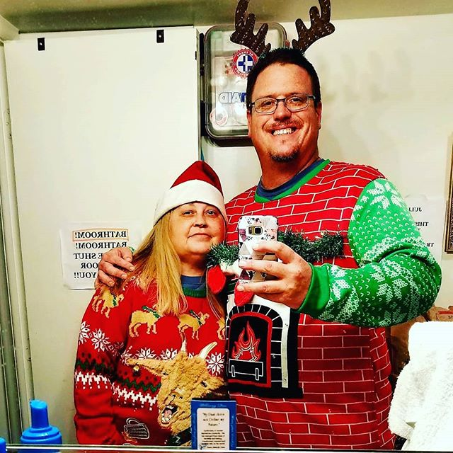 Awesome tacky sweaters! @mikelynnshots won the contest at our apartment Christmas party 🎉 . . @lynnjoyceannette  #thrivechurchva #loveGod #lovepeople #passiton #Jesus #blessedbygod #god #love #angel #buisness #motivated #warriorforGod #helpsomeouttodayrva #faith #soberissexy #soberwarrior4god #neverquitneversurrender #NeverGiveUp #mikelynnshotsTopShots #mikelynnshots #photography #Photo #nofilter #Christmas