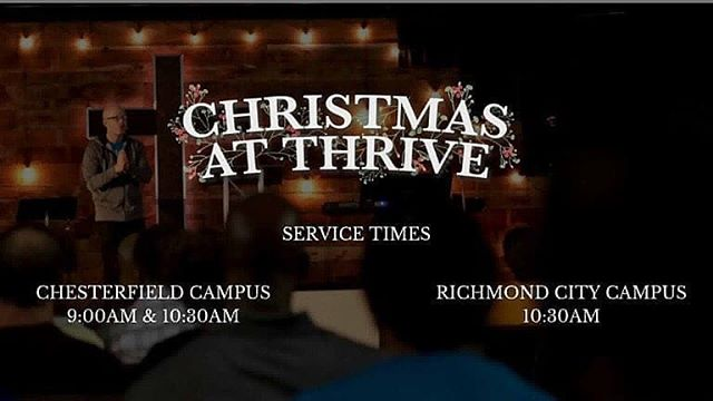 Great church, great people, great friends! All that is missing is you! We would love to have you as our guest! . . #thrivechurchva #helpsomeouttodayrva #church #Christmas #christmaslights #helpsomeouttodayrva #faith #soberissexy #soberwarrior4god #neverquitneversurrender #NeverGiveUp #mikelynnshotsTopShots #mikelynnshots  Reposted from @thrivechurchva -  Christmas At Thrive is tomorrow! We have three opportunities for you to join us. Chesterfield at 9:00am or 10:30am and Richmond at a new time of 10:30am. Link in the bio gives more details. - #regrann