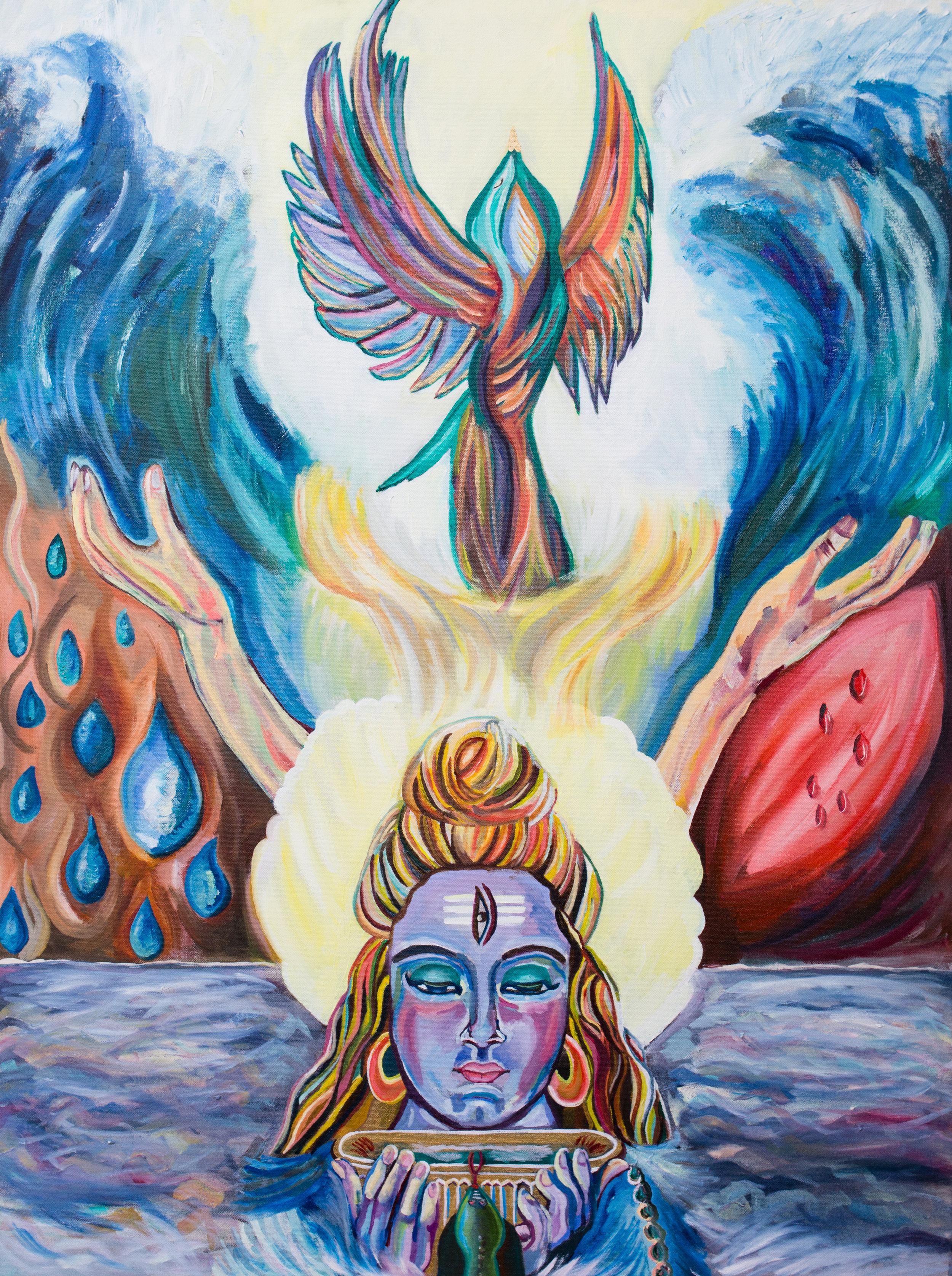 "Risen | Oil on canvas | 30 x 40"" | 2016"