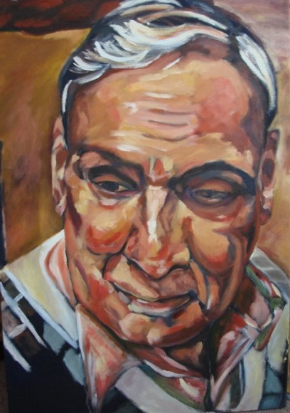 "Grandad | Oil on canvas | 24 x 30"" | 2007"