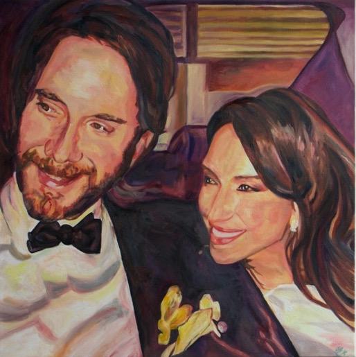"Wedding Portrait | Oil on canvas | 30 x 30"" | 2015"