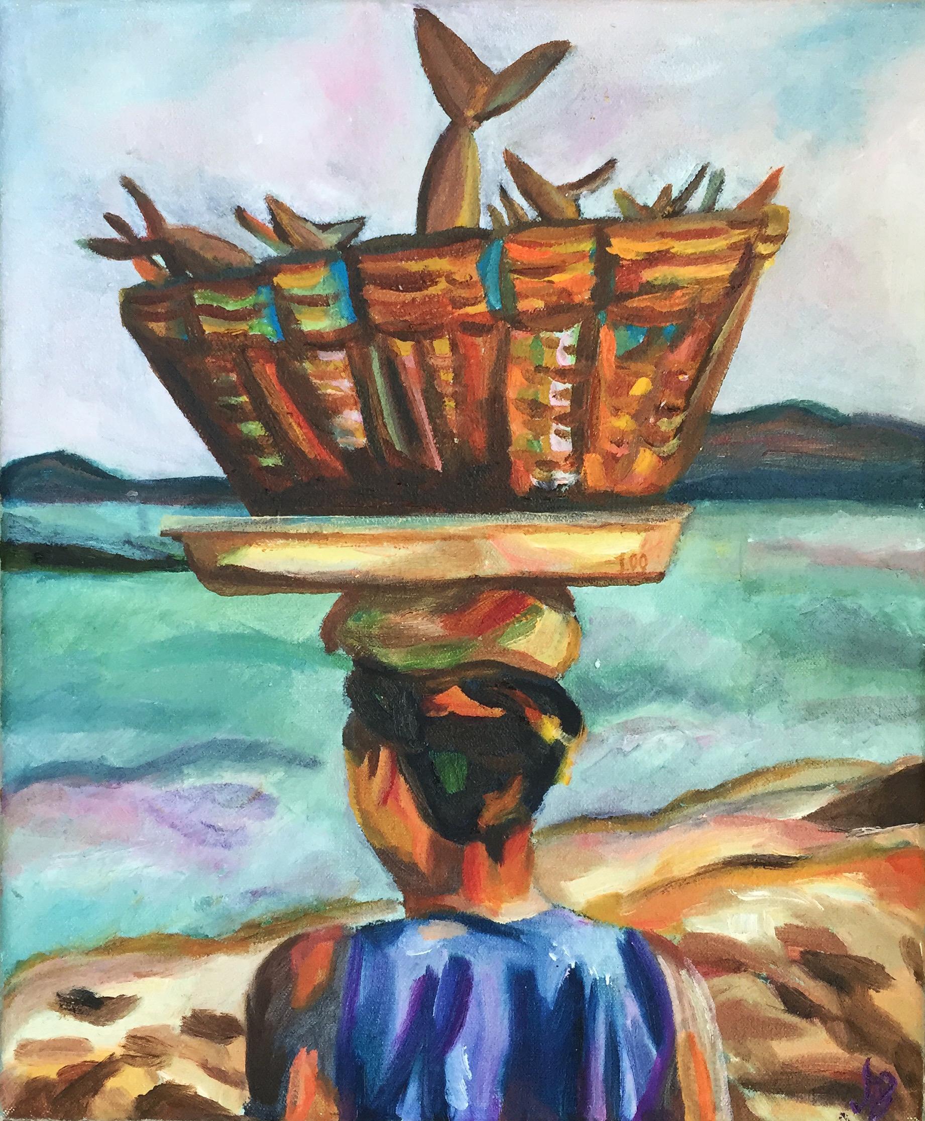 "My Sea | Oil on canvas | 9.5 x 11"" | 2015"