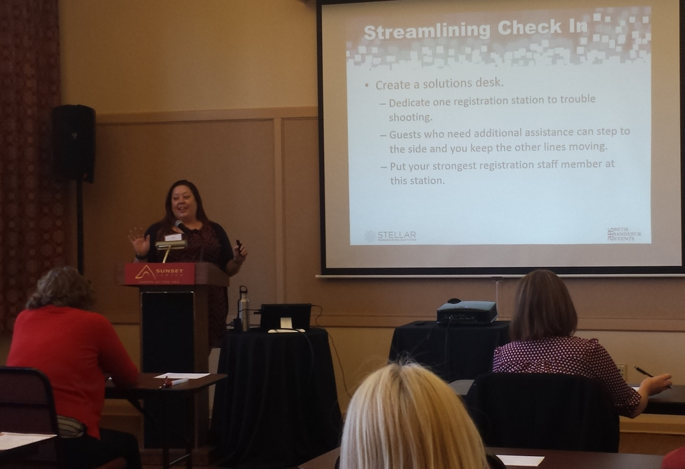 Beth Sandefur will give an in-depth presentation on ways to streamline and improve registration at your event.
