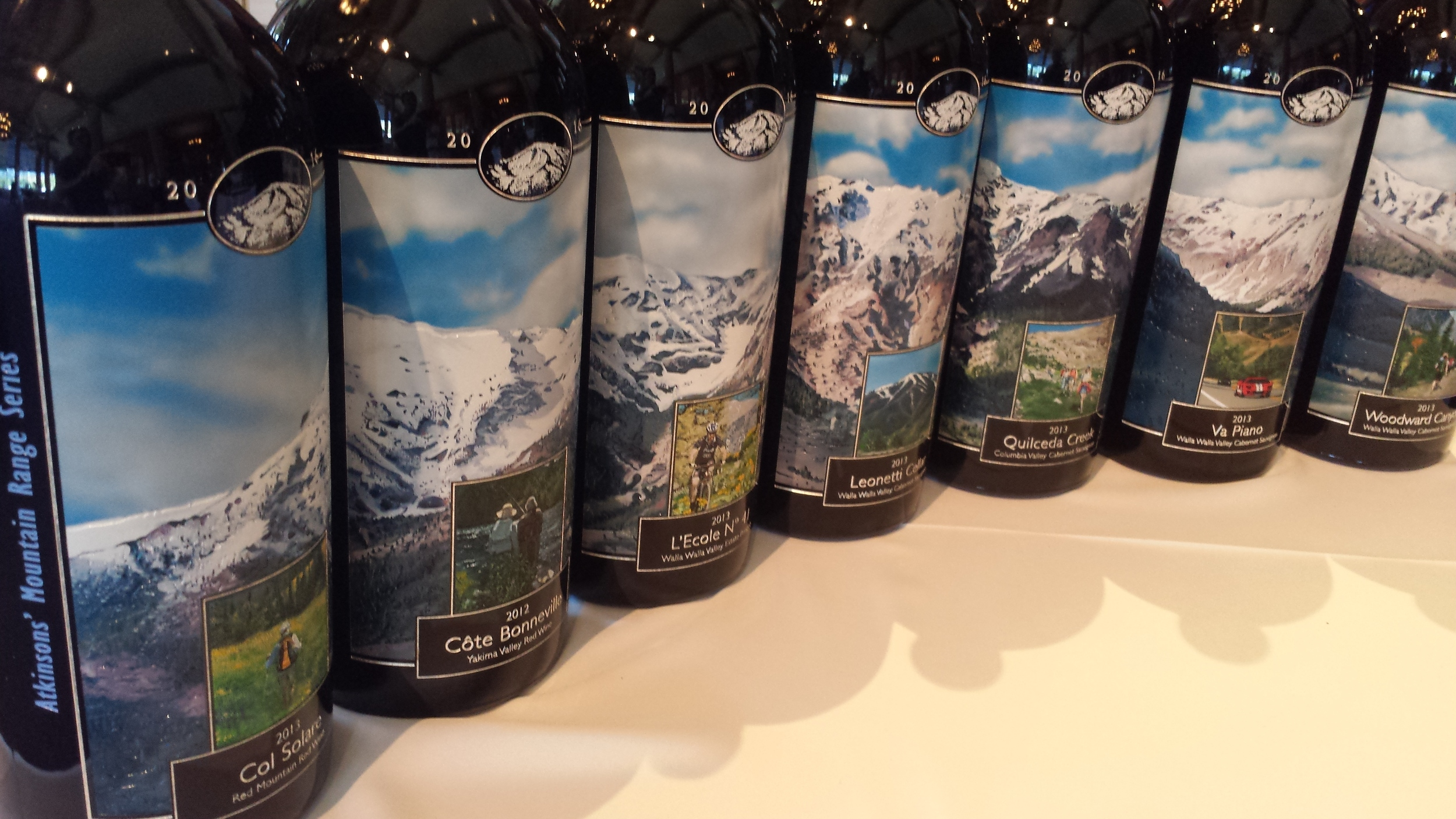 The Atkinson's Market annual collection of etched and painted 3-liter bottles is one of many traditions at the Sun Valley Center for the Art Wine Auction.