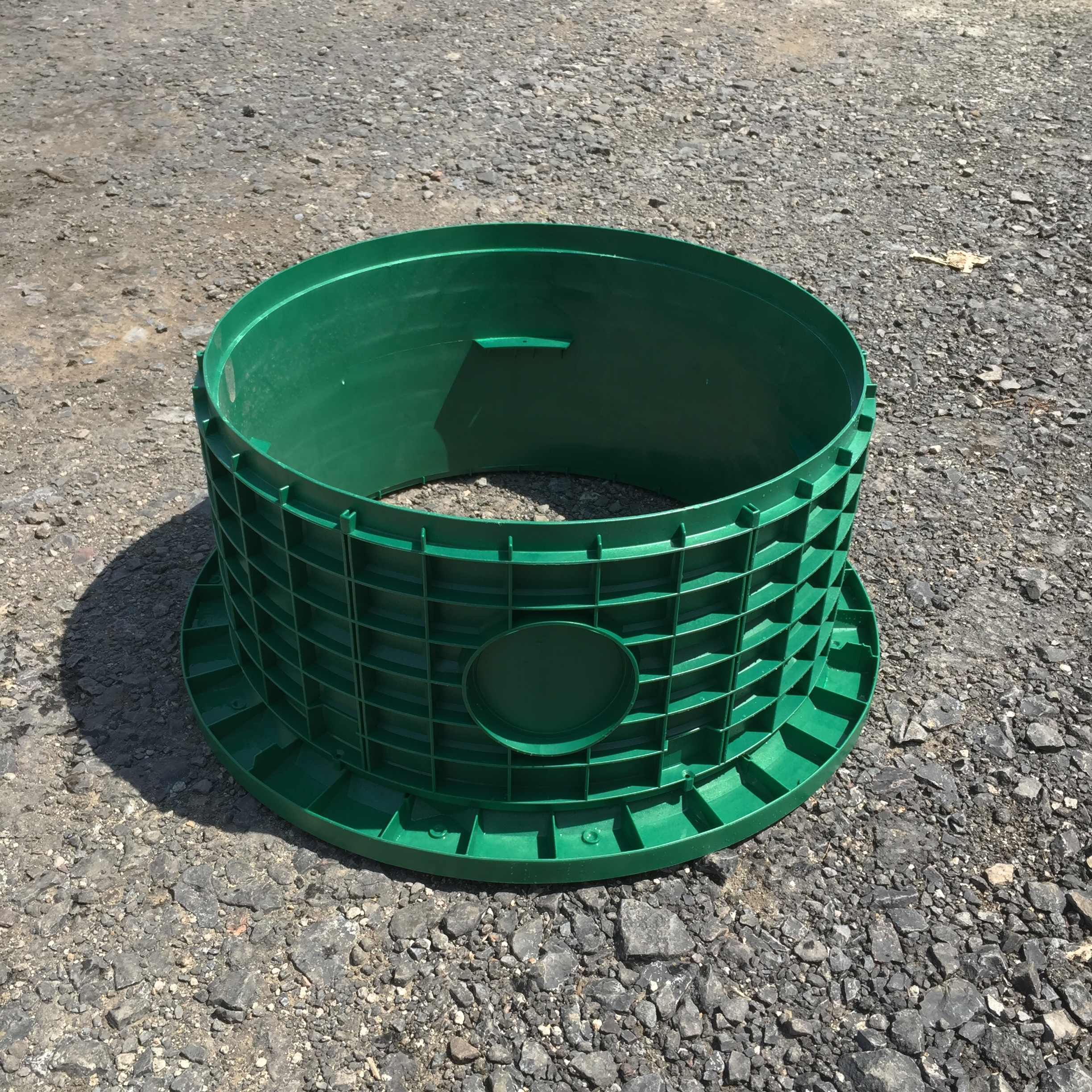"""24"""" Tank Adapter Ring shown with 12"""" Riser."""