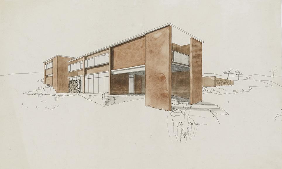 Goldfinger's house design for Marjorie and Paul Abbatt